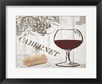 Framed Vintage Wine 2
