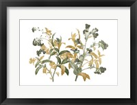 Framed Floral Bushel Green Golds