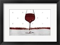 Framed Pokadot Wine