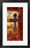 Framed Cross On Red