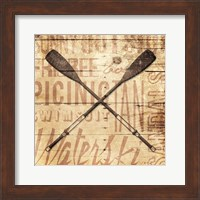 Framed Wooden Oar