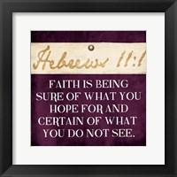 Framed Faith Is Being Purple