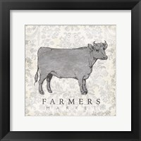 Framed Cow Farmer