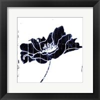 Framed Blue Flower Mate