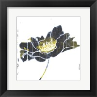 Framed Flower With Blue Yellow