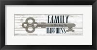 Framed Key to Happiness
