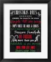 Framed Christmas Rules