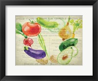 Framed Fresh Veggies 2