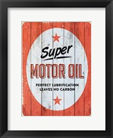 Framed Motor Oil