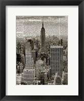Framed Newspaper City 1