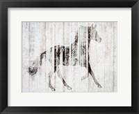 Framed Barnwood Horse 2