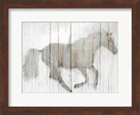 Framed Whitewash Horse