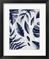 Framed Tropic Indigo Leaves 1