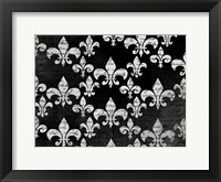 Framed Black and White Fleur