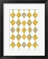 Framed Painted Pattern Mustard 1