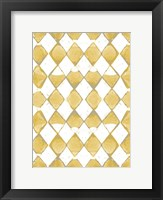 Framed Painted Pattern Mustard 2