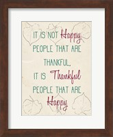 Framed It is not Happy People