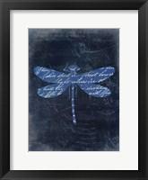 Framed Dragonfly Blue 2