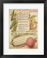 Framed Splendid Vegetables