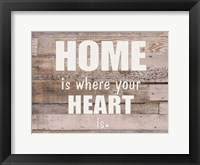 Framed HOME is where the HEART