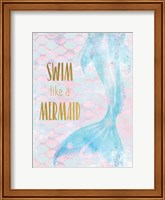 Framed Swim like a Mermaid