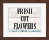Framed Fresh Cut Flowers