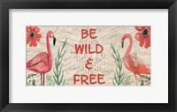 Framed Postcard Flamingo Panel 2