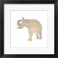 Framed Elephant Gold 1