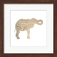 Framed Elephant Gold 2