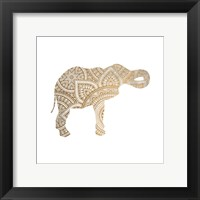 Framed Elephant Gold 2