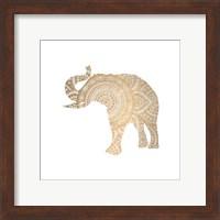 Framed Elephant Gold 3