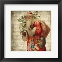 Framed Vintage Santa 1