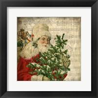 Framed Vintage Santa 2