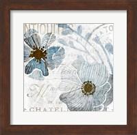 Framed Soft Floral Blue 1