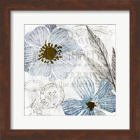 Framed Soft Floral Blue 2