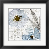 Framed Soft Floral Blue 2