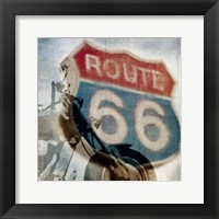 Framed Route 66 Riding