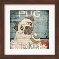 Framed Pug Cupcakes