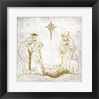 Framed Nativity Gold