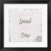Framed You Are Loved Pink