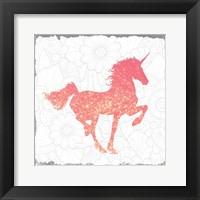 Framed Glitter Pink 1