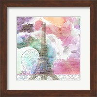 Framed Watercolor Travel 3