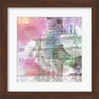 Framed Watercolor Travel 4