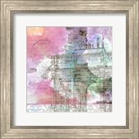 Framed Watercolor Travel 4
