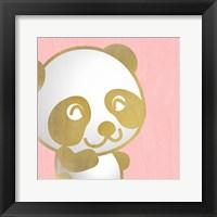 Framed Pink Panda 1