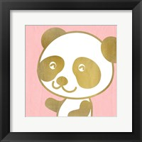 Framed Pink Panda 2