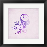 Framed Purple Pink Owl 2