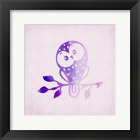 Framed Purple Pink Owl 3