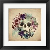 Framed Floral Skull 1 v2