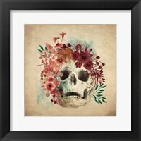 Framed Floral Skull 2 v2